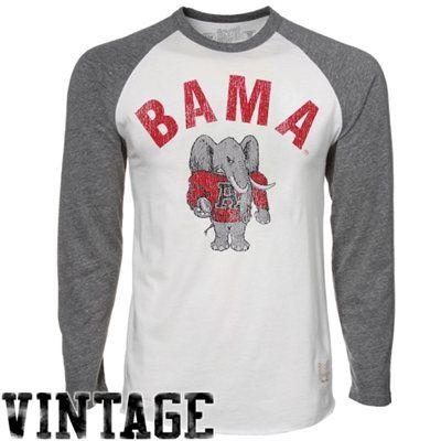 wholesale dealer 25051 1b0ac Alabama Crimson Tide Retro Long Sleeve Raglan T-shirt ...
