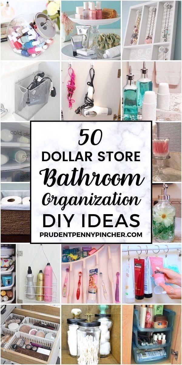 50 Dollar Store Bathroom Organization Ideas | 1000 i 2020