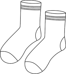 Image result for socks clipart black and white pictures