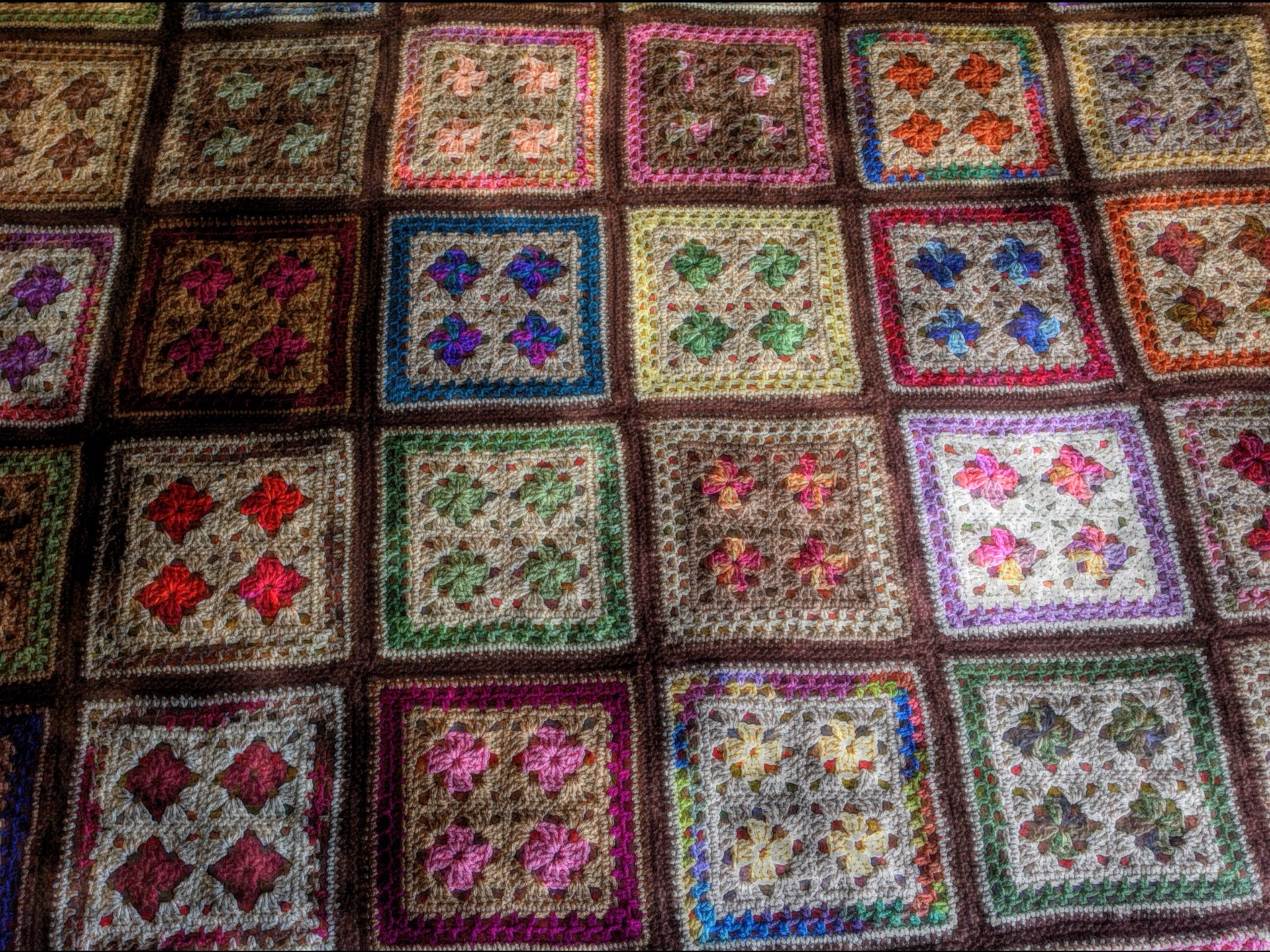 Stained Glass Crocheted Afghan Crochet Blankets & More ...
