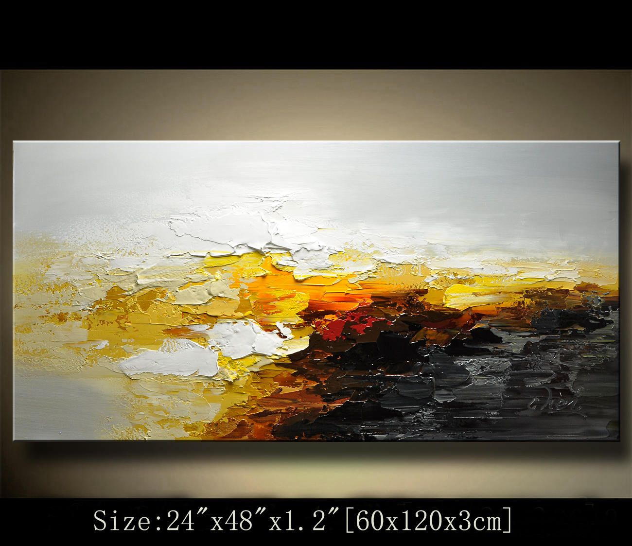 Abstract Large ORIGINAL Painting Modern Textured Painting ...