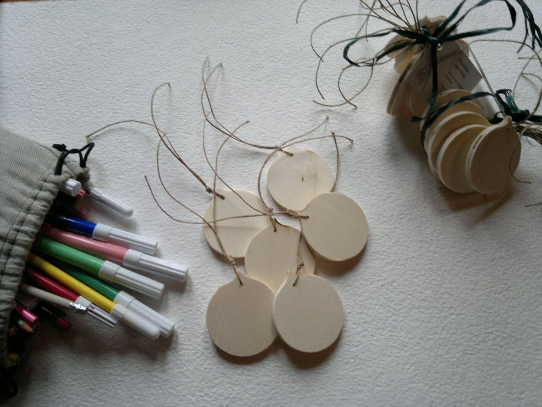 Decorazioni In Legno Per Albero Di Natale : Addobbi di natale in legno da dipingere set da pezzi