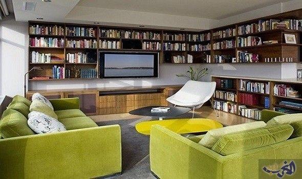 أفكار مبهرة للحصول على تصميم غرفة مكتب عصرية وملائمة Home Library Design Home Library Home