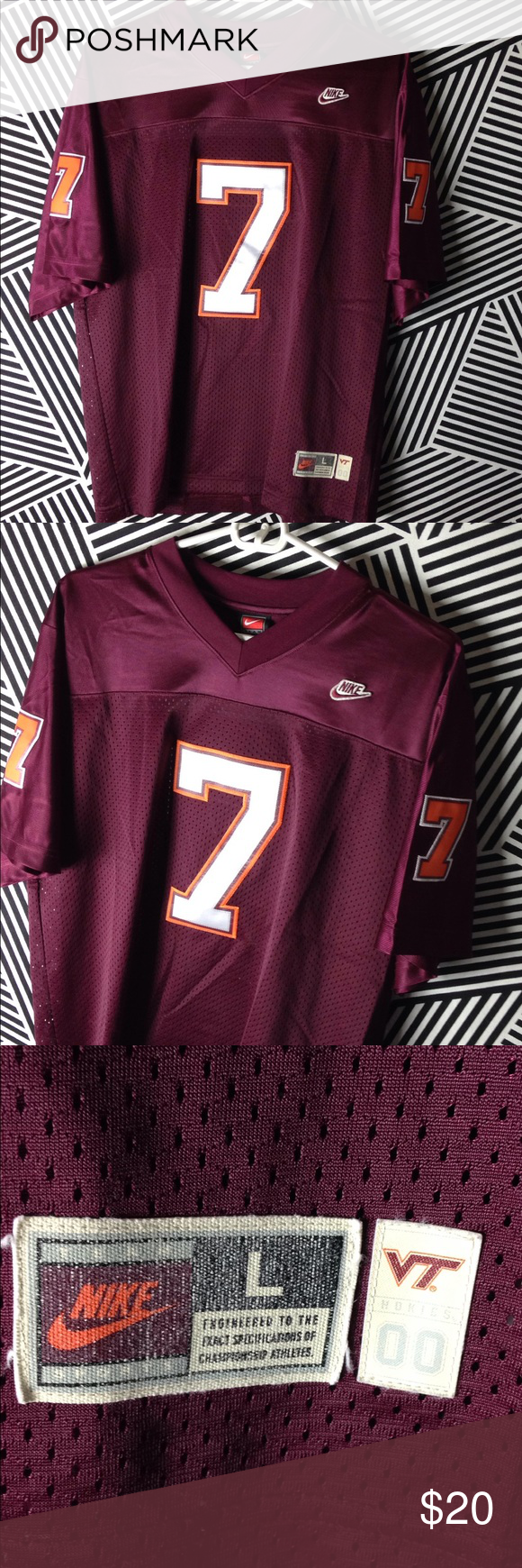 Nike Virginia Tech Hokies college football jersey Size