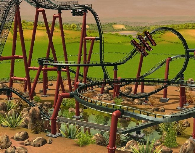 roller coaster tycoon world concept art - Google Search | Cover