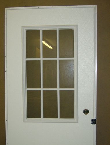 mobile home outswing door 9 lite window white outside white