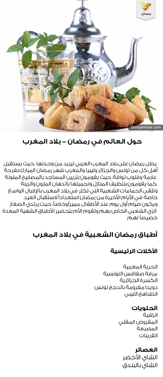 عادات رمضان اكلات حلويات عصائر بلاد المغرب دنيا امرأة كويت كويتيات كويتي دبي الامارات السعودية قطر Kuwait Doha Dubai Saudi Food Fruit Condiments
