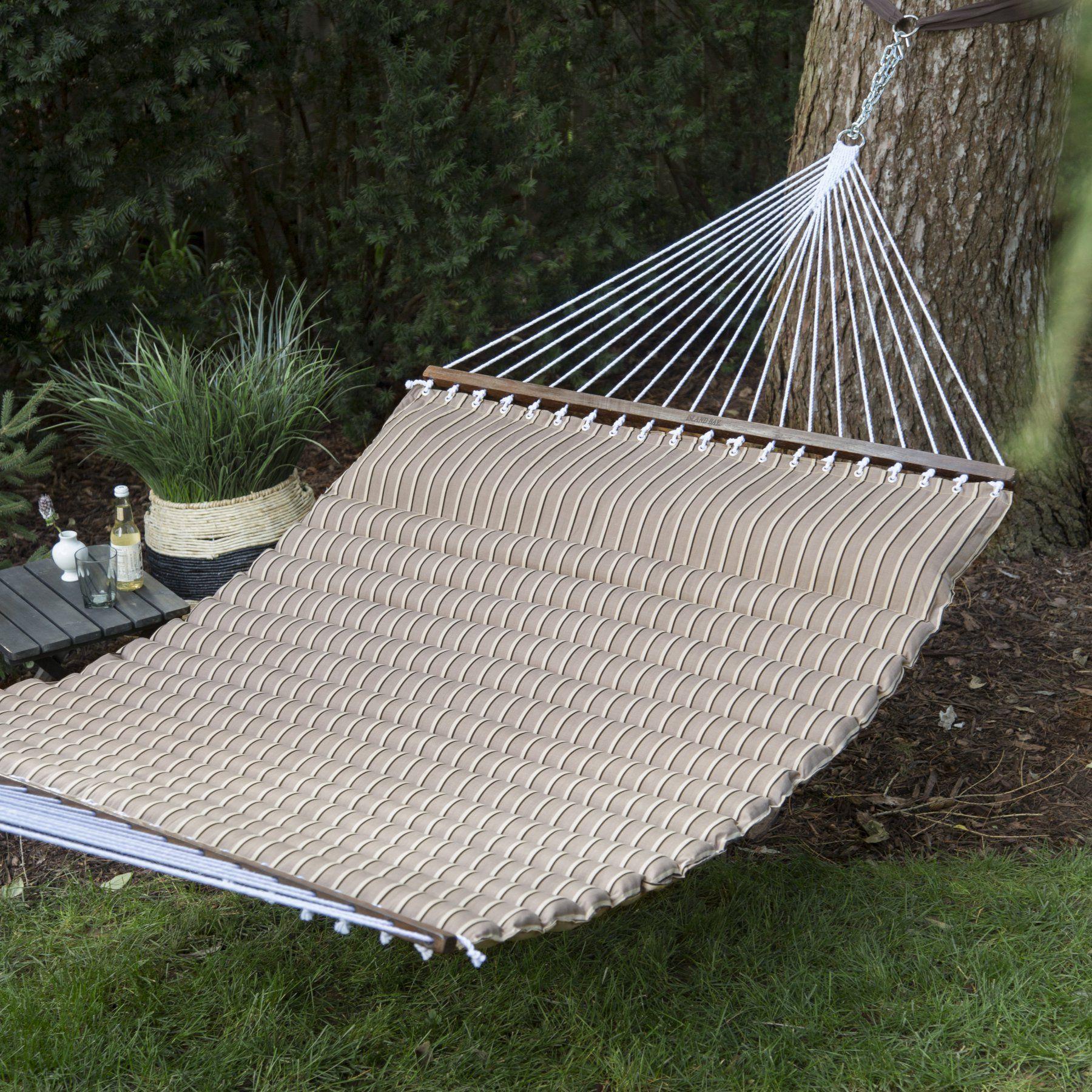 Hammock chair island bay cocoa pillowtop hammock fdljpthcocoa