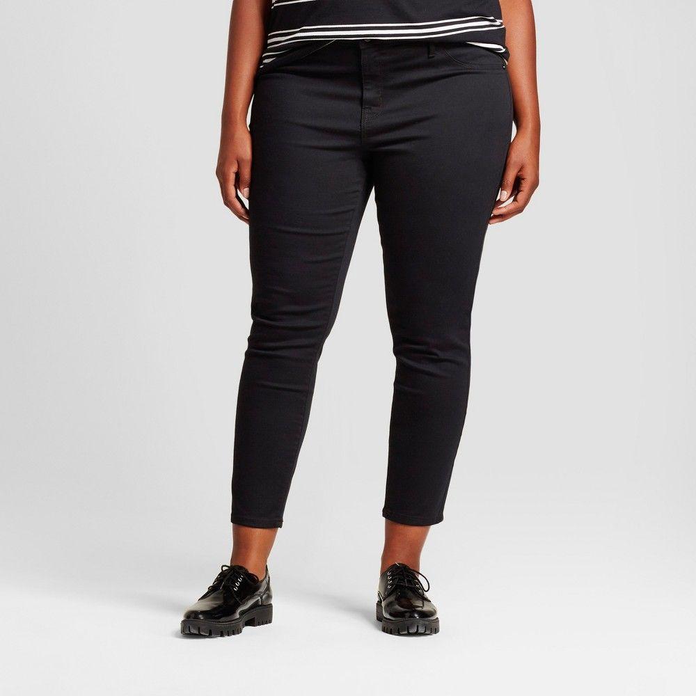 db7ecd9925e7f Women s Plus Size Denim Jeggings - Ava   Viv Black 16WS