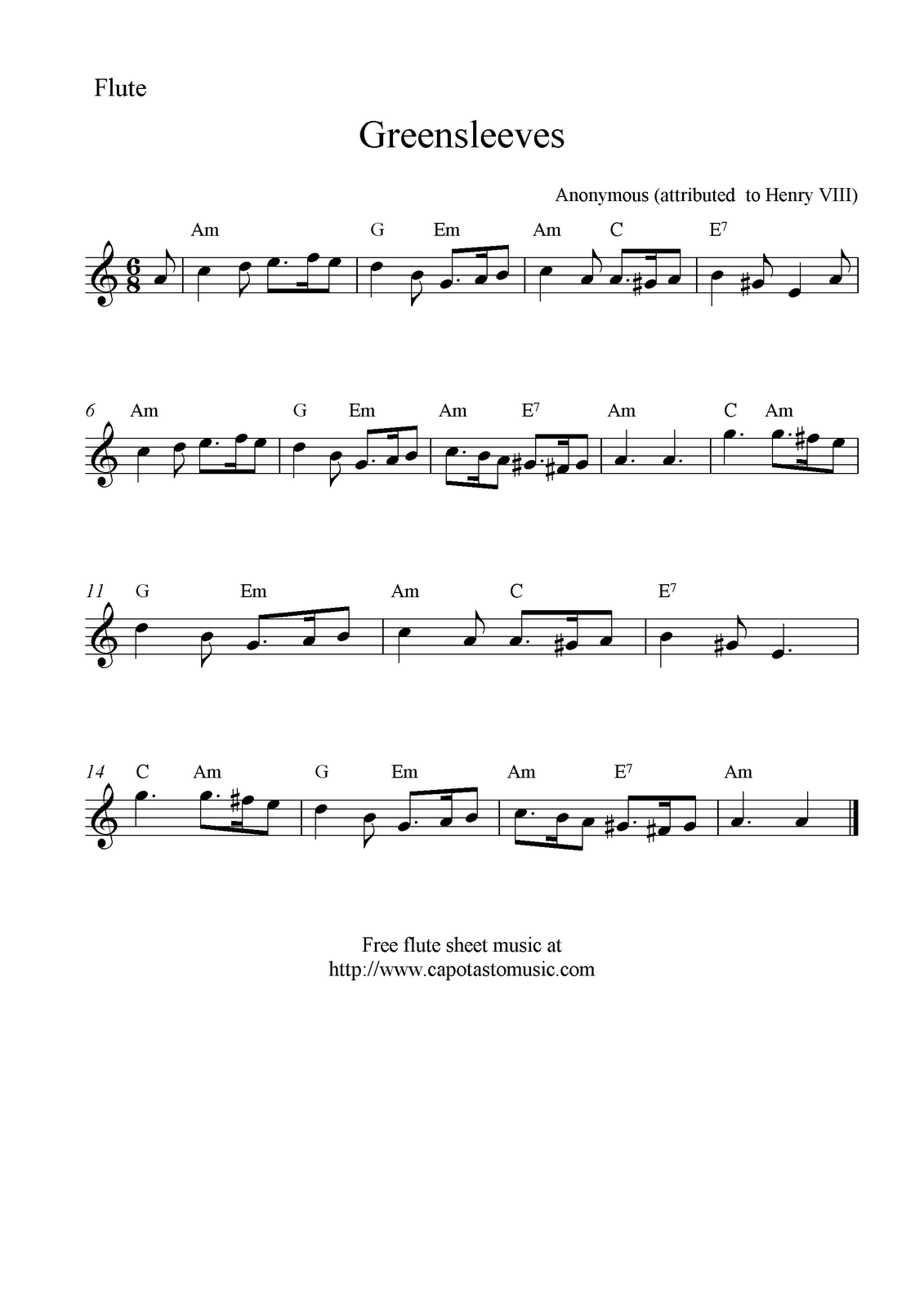 It's just an image of Zany Free Printable Flute Sheet Music