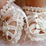 2 adorable beautiful Crochet Baby Sandals (3)
