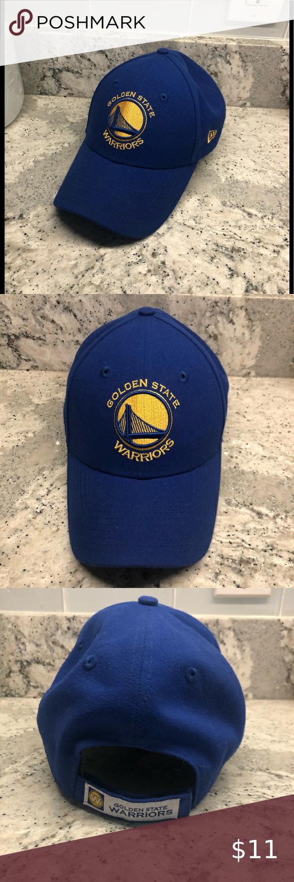 Golden State Warriors New Era Hat New Brand New Golden State Warrior New Era Hat Velcro Back Nba Sticker Under Br In 2020 New Era Hats New Era Golden State Warriors