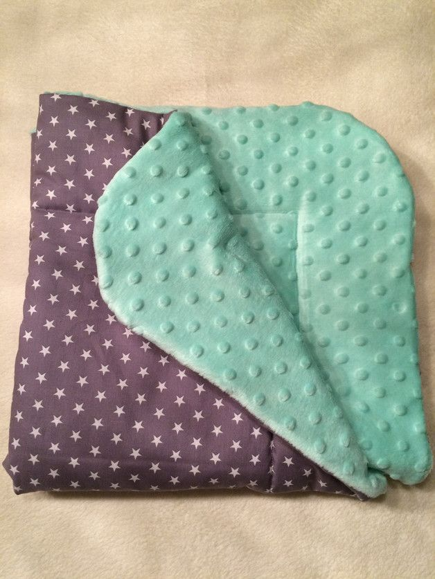 Babydecken - Baby Kuscheldecke, Einschlagdecke - ein Designerstück von Kleine-Wollbude bei DaWanda