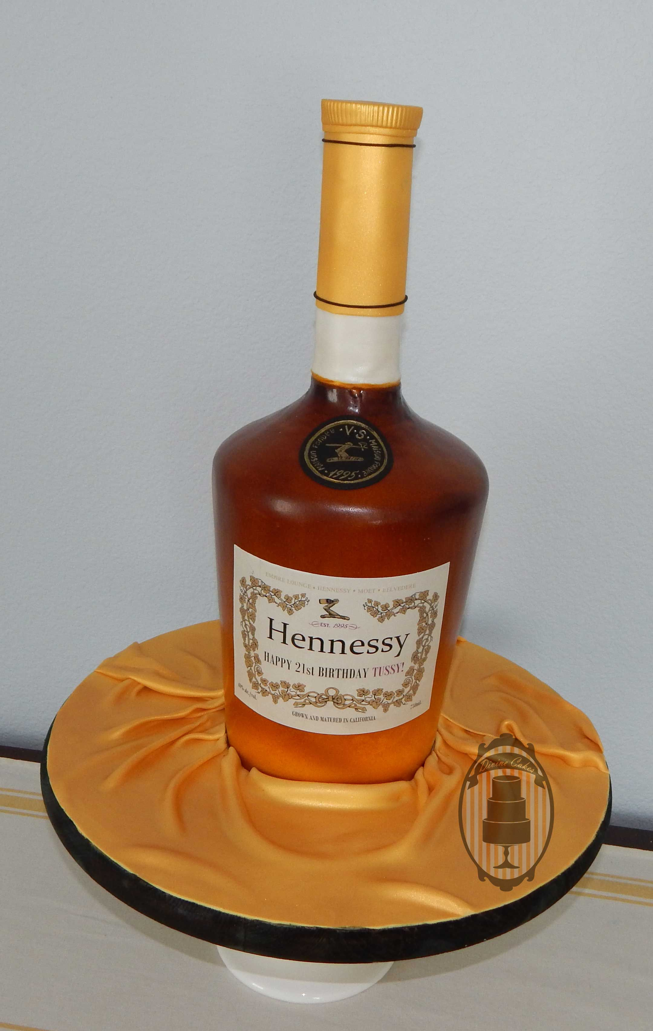 Hennessy bottle cake with custom label. | Divine Cakes in 2019 ...