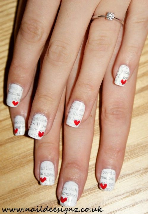 Love Letters - 20 Ridiculously Cute Valentine's Day Nail Art Designs - 20 Ridiculously Cute Valentine's Day Nail Art Designs Nail Nail