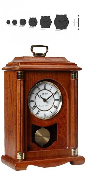 Seiko brushed metal mantel clock