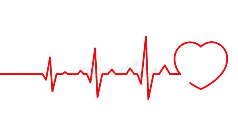 Heart Pulse Cardiogram Line Vector Illustration Heartbeat Heart Pulse Cardio Sponsored Line Heartbeat Tattoo Design In A Heartbeat Heartbeat Tattoo