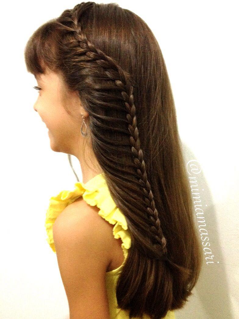 Cute Lace Braid Peinados Con Trenzas Peinados Peinados Para Ninas