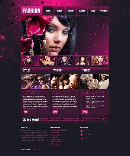 Fashion Responsive Website Template Template Responsive Web - Fashion website templates