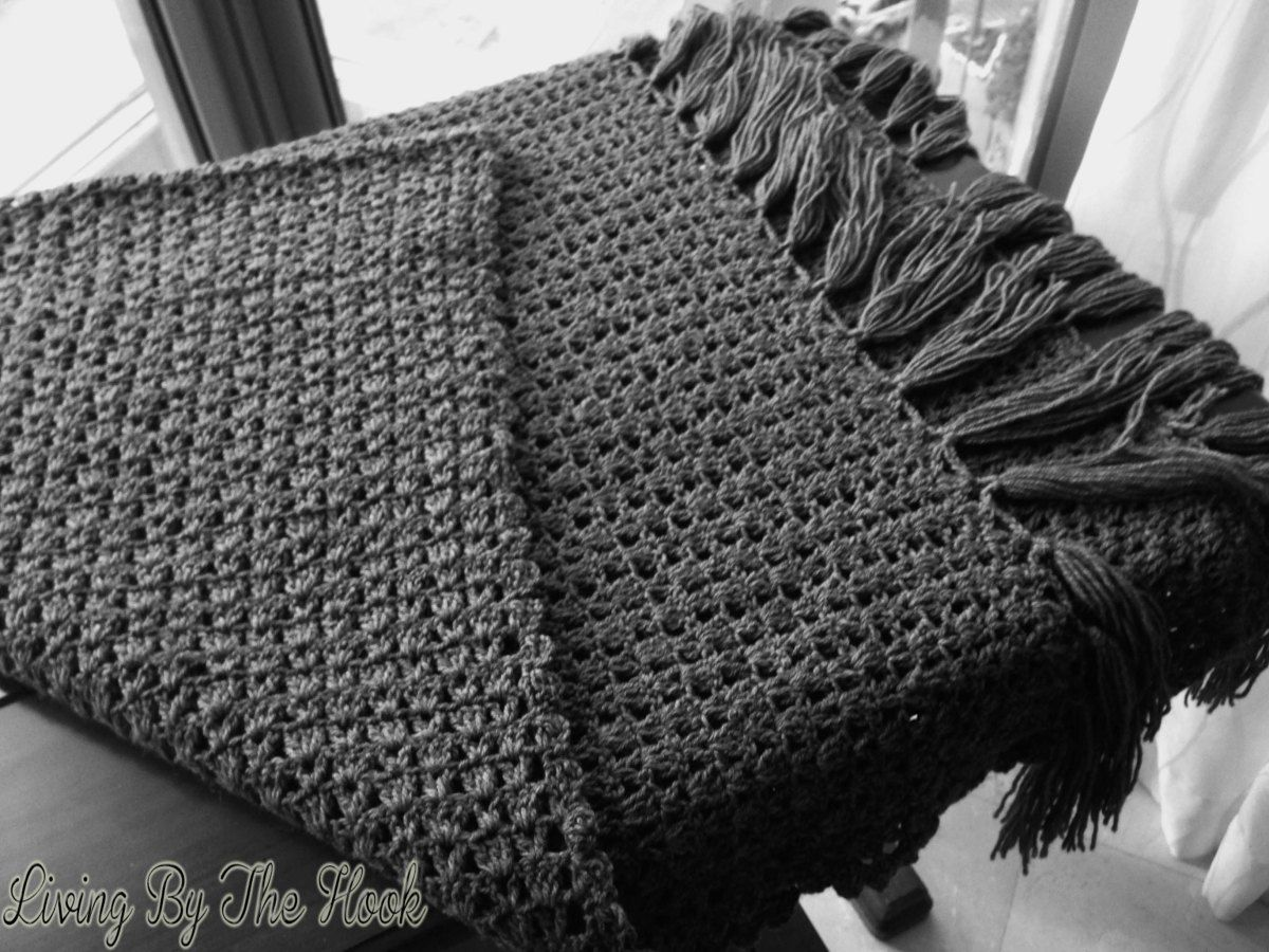 Hubby got this lovely chunky gray tweedish kinda wool during one of his trips to Turkey, so I made a throw for him.   I used 10 balls of chunky wool (50 gm balls) and a 6 mm crochet hook to ma...