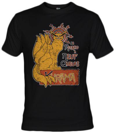 Camiseta Le Renard Kurama por Andres M Valle - Naruto Tee - Fanisetas.com