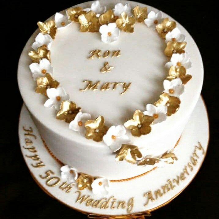 Golden Wedding Anniversary Golden Anniversary Cake 50th Wedding Anniversary Cakes Golden Wedding Cake