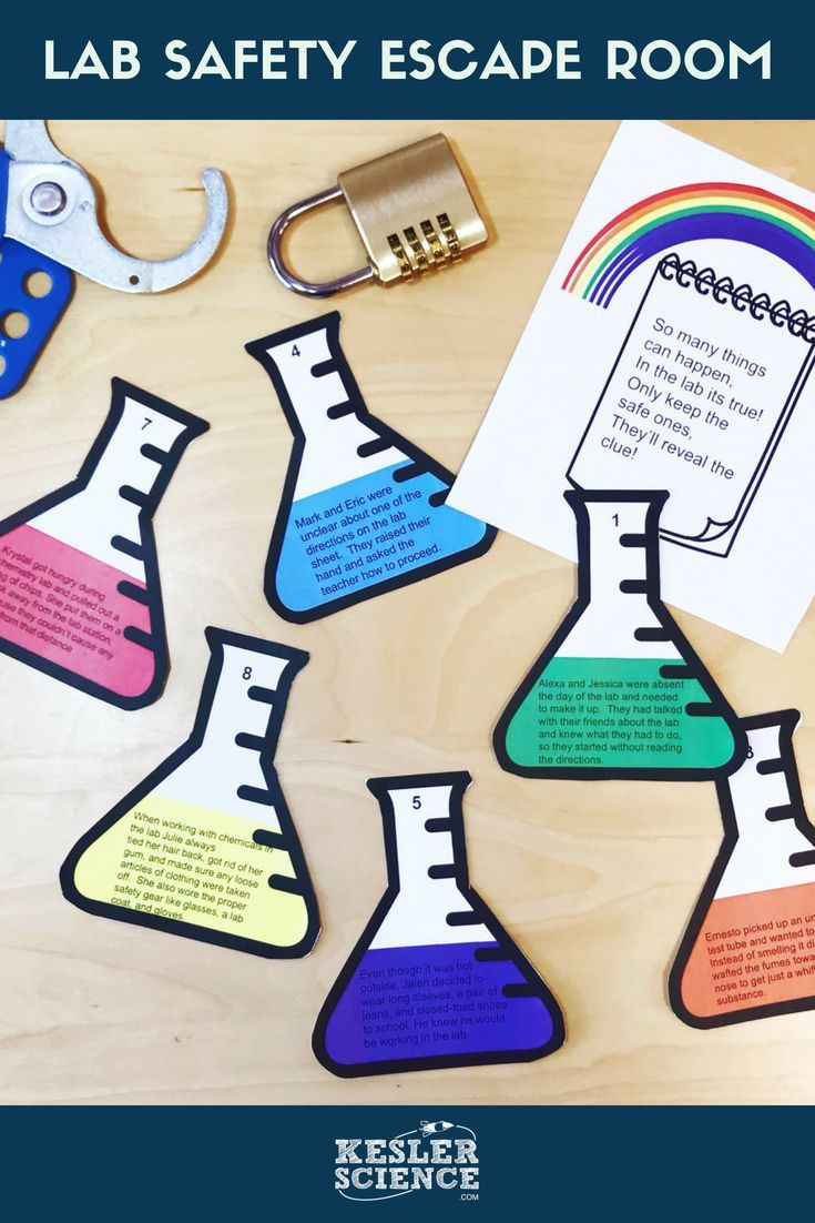 This lab safety activity for middle school science students will set ...