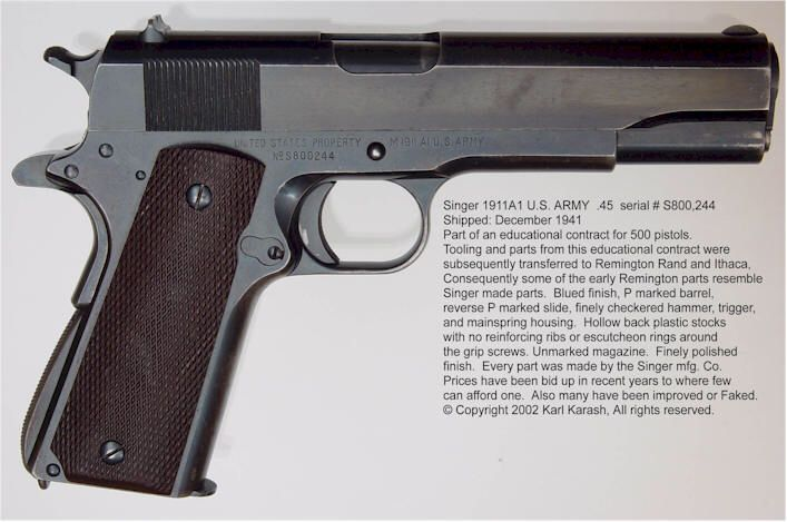 M40A40 Made By The Singer Sewing Machine Company For WWII Custom Singer Sewing Machine 1911 Value