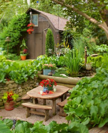 35 Beautiful Backyards Pinterest Jardinería, Patio trasero y Patios