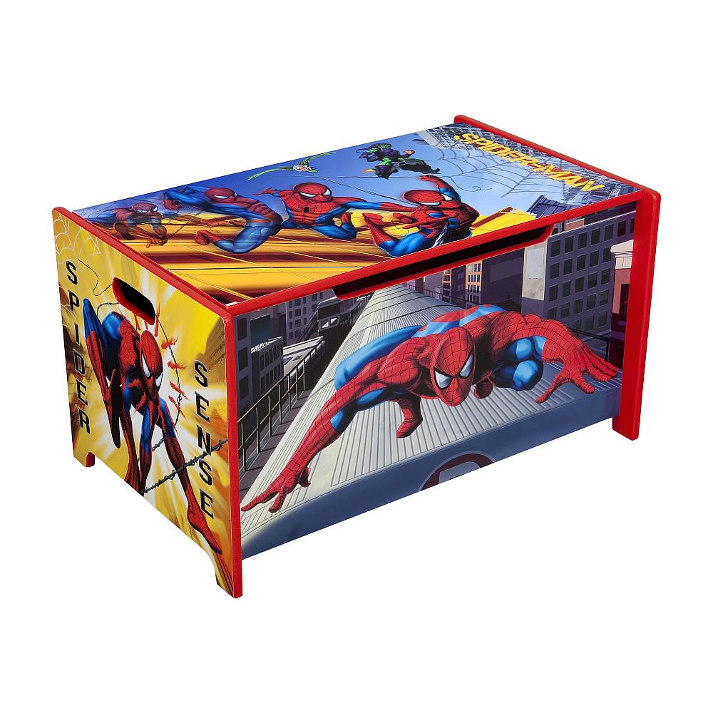 "Marvel Spiderman Toy Box  Delta  Toys ""r"" Us $55  Boys Room Prepossessing Spiderman Bedroom Furniture Design Inspiration"