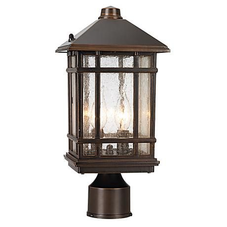 J Du J Sierra Craftsman 14 High Outdoor Post Mount Light 03436 Lamps Plus Post Mount Lighting Lamp Post Lights Outdoor Post Lights