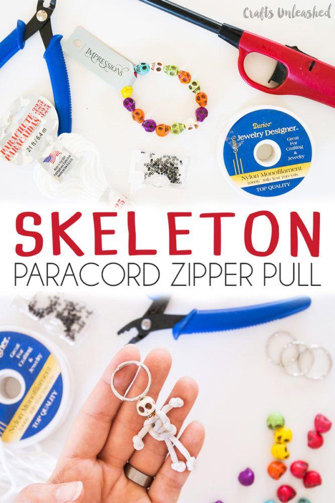 Diy Skeleton Halloween Paracord Zipper Pull Consumer Crafts