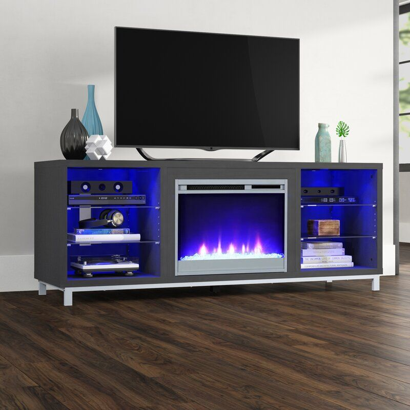 Ilyse Tv Stand For Tvs Up To 70 With Fireplace Fireplace Tv