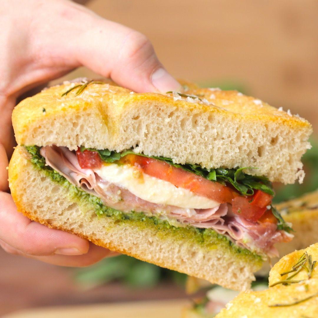 Pressed Italian Sandwiches Recipe Gourmet Sandwiches Italian Sandwich Recipes Italian Sandwich