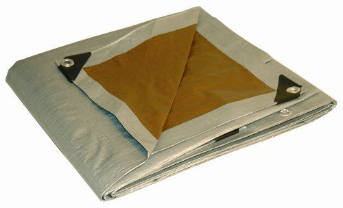 Dry Top 226409 26 By 40 Foot Full Finish Size Tarp Super Heavy Duty 10 Millimeter 5 5 Ounce Uv Treated Silver Brow Rv Parts And Accessories Tarps Heavy Duty