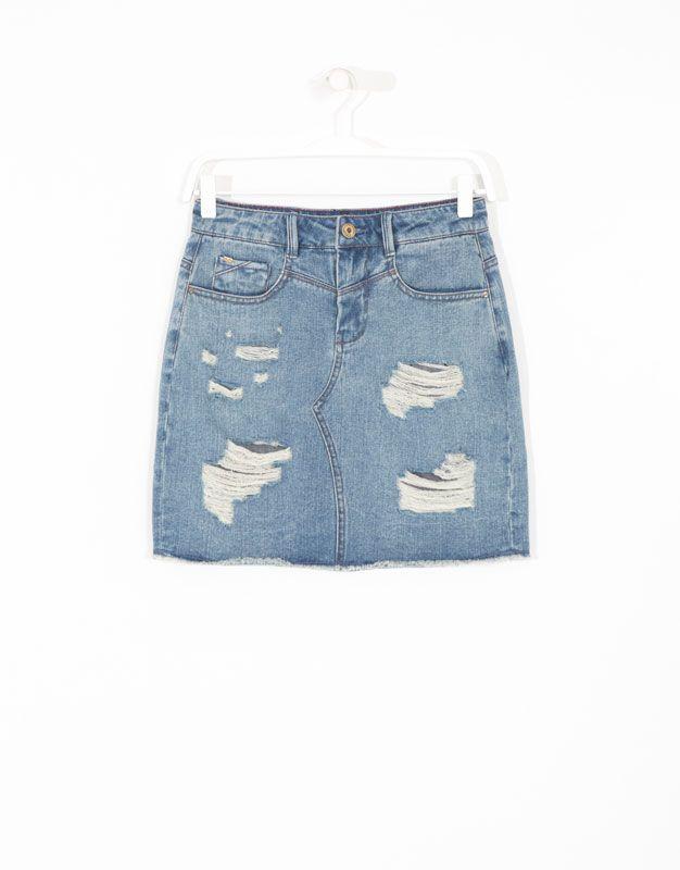 Pinterest Falda Jeans Lefties Rotos España Fantasía Denim rySwS1Yq0