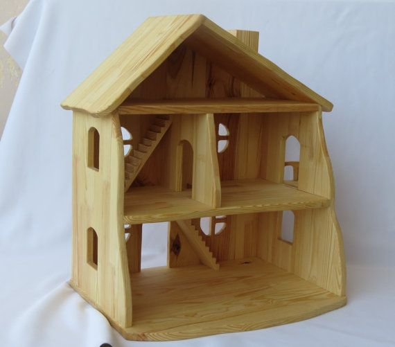 Handmade Wooden Dollhouse Linseed Oil Wooden Dollhouse And Wood Toys