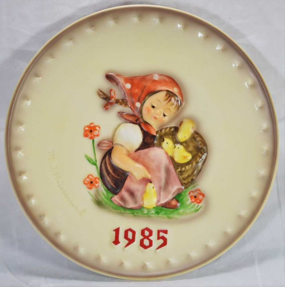Hummel annual plate 1985 chick girl 278 hand painted w germany no box