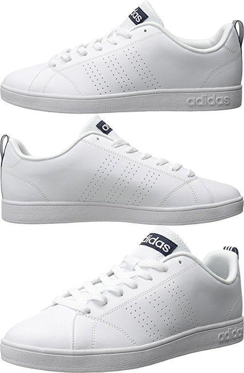 half off eb84d c0f00 Adidas NEO Mens Advantage Clean VS Lifestyle Tennis Shoe,WhiteWhiteCollegiate  Navy,8.5 M US Sneakers