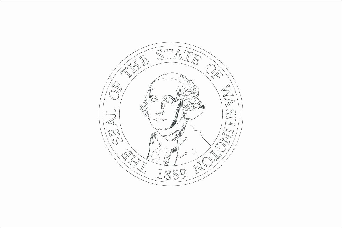 Washington State Flower Coloring Page Beautiful States Flags