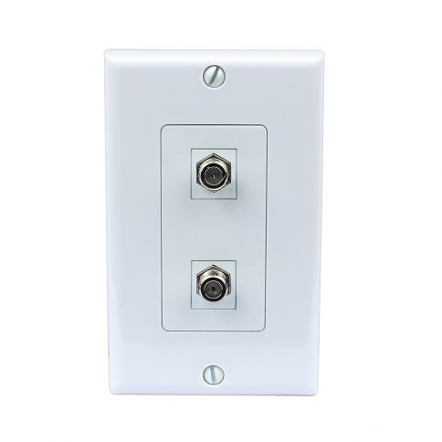 New Easy Removable Installation 2 Port Coax Cable Tv F Type Wall Plate Plates On Wall Installation Wall