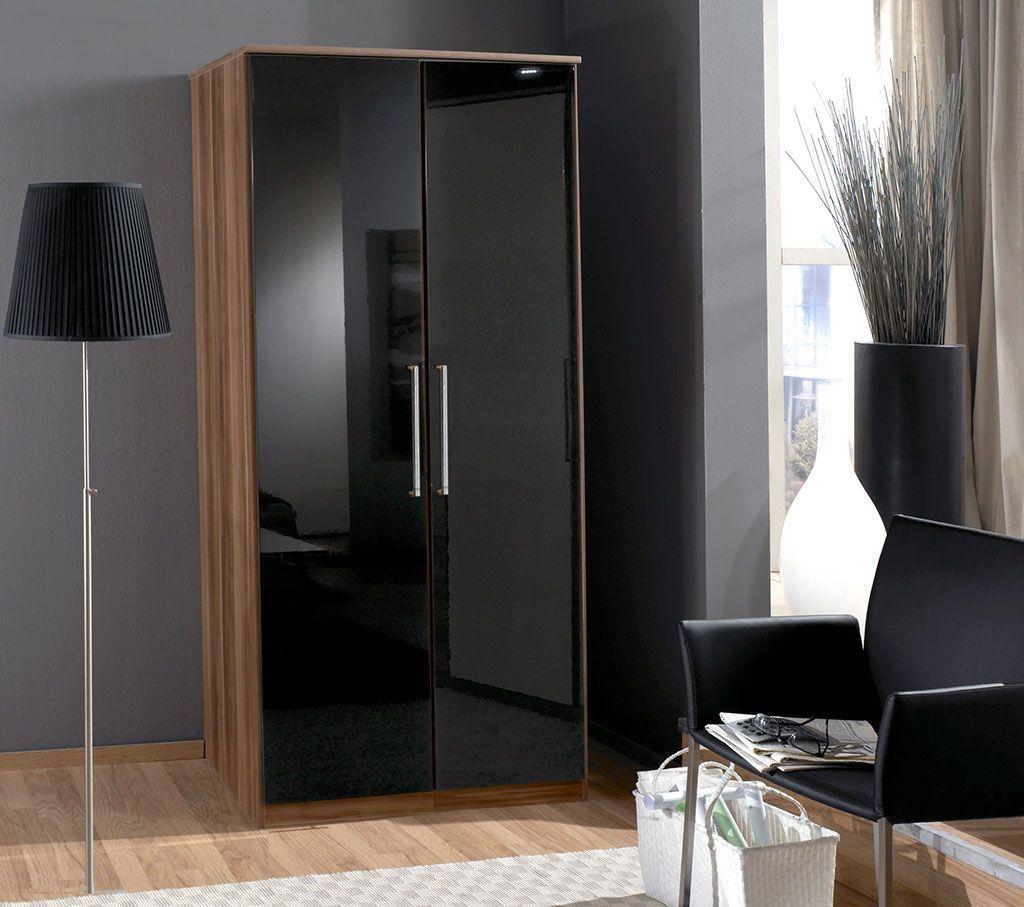 Black high gloss bedroom furniture ready assembled Bedroom