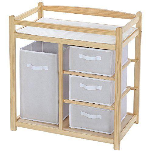 recomendable TecTake Cambiador de pañales para bebés mueble cómoda ...