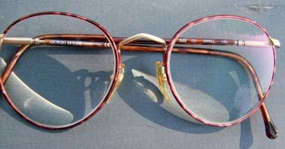 Giorgio Armani  Eyeglasses ITALY Round  LENS  by ifoundgallery, $175.00
