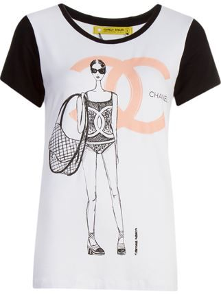 35e52af07e9 Camilla Salles Camiseta Branca E Preta Estampada - Camilla Salles - Farfetch .com