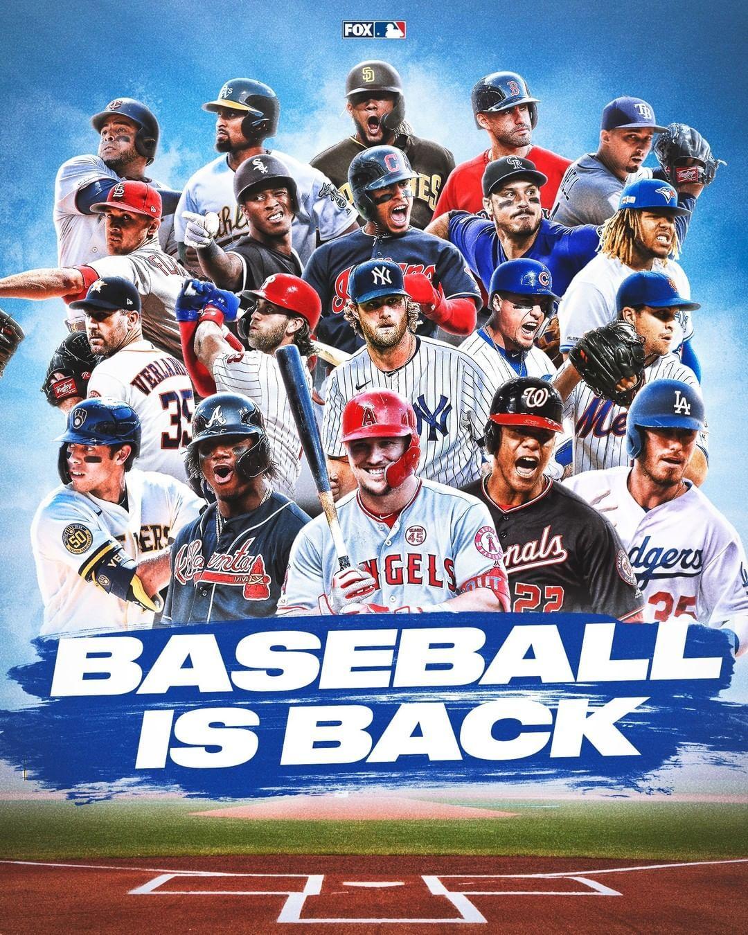 Mlb On Fox On Instagram Baseball Is Back In 2020 Play Baseball Baseball Baseball Today