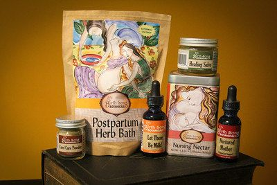 Best Selling Organic Herbal Postpartum Gift Set by Birth Song Botanicals- Makes a Great Baby Shower Gift for Pregnant and Breastfeeding Moms #fallmilkbathbaby