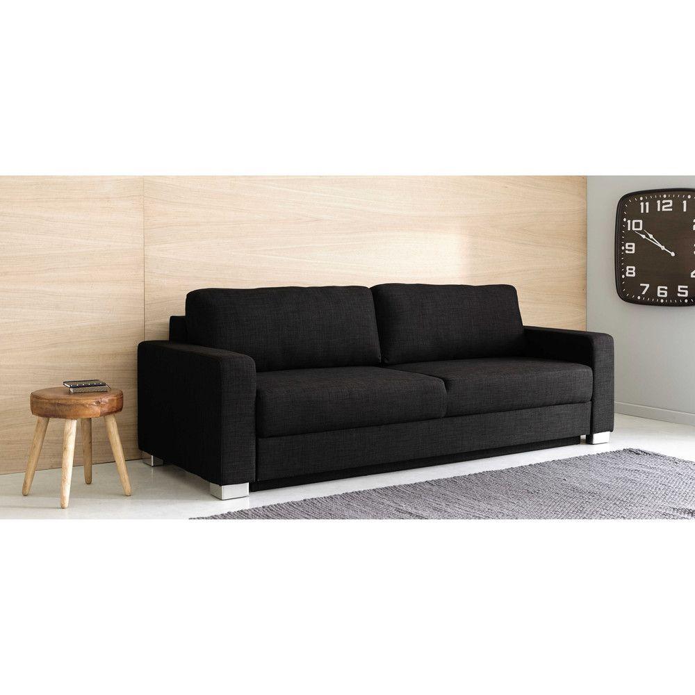 Canape Lit 3 Places Gris Anthracite Maisons Du Monde Haus Deko 3 Sitzer Sofa Haus