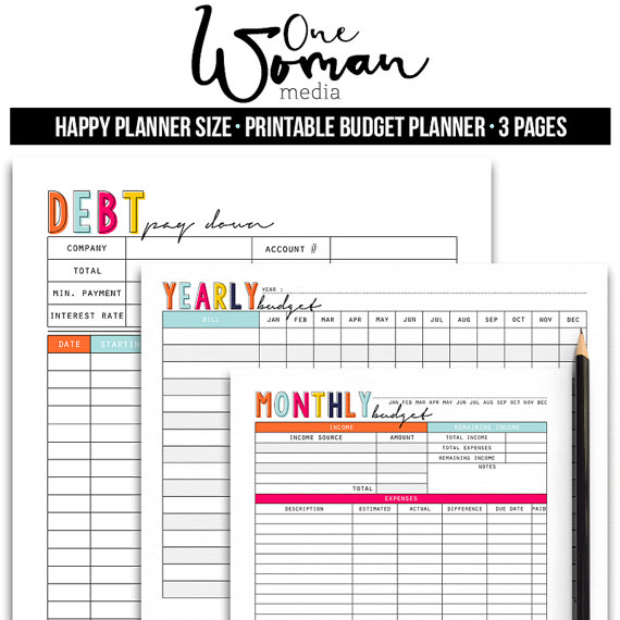 happy planner budget planner financial planner bill planner cash
