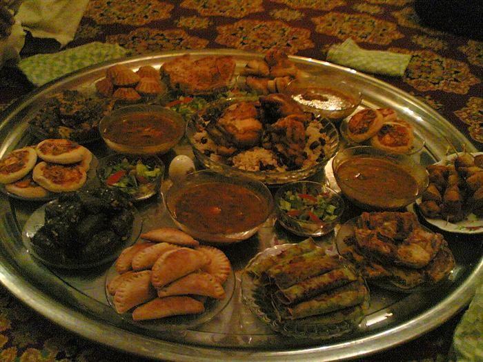سفرة مأكولات ليبية Food Beef Meat